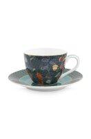 Espresso Cup & Saucer Winter Wonderland Overall Dark...