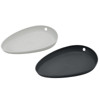 Kochlöffelablage Silikon 2er Set light-/iron grey