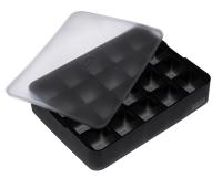 ICE FORMER Würfel 3x3cm schwarz transparent