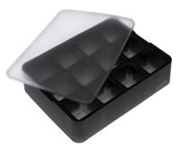 ICE FORMER Würfel 4x4cm schwarz transparent