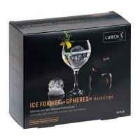 ICE FORMER Ball Ø6cm 2erSet schwarz transparent