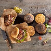 Flexiform BurgerBun Size L Ø10cm 6fach braun
