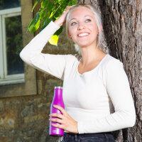 Isolier-Flasche Edelstahl 0,5l purple