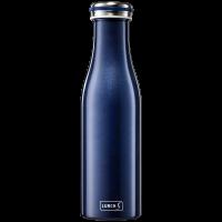 Isolier-Flasche Edelstahl 0,5l blau-metallic