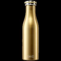 Isolier-Flasche Edelstahl 0,5l gold-metallic